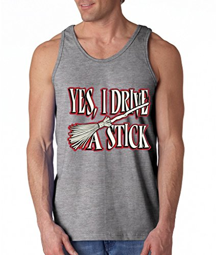 Yes I Drive A Stick Men's Tank Top Funny Halloween Tank Tops 2XL Sports Grey h5]()