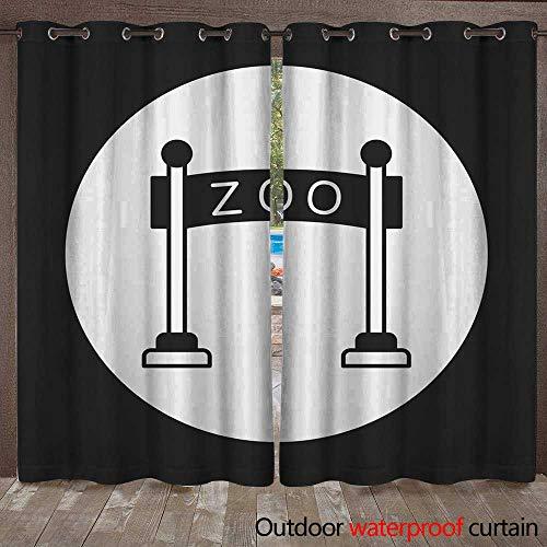RenteriaDecor Home Patio Outdoor Curtain Zoo gate icon W72 x L84 (Manor Gate Manor Gate)