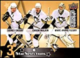 2009-10 Upper Deck Collector's Choice #224 Evgeni Malkin/Marc-Andre Fleury/Sidney Crosby NM-MT Pittsburgh Penguins Official NHL Hockey Trading Card