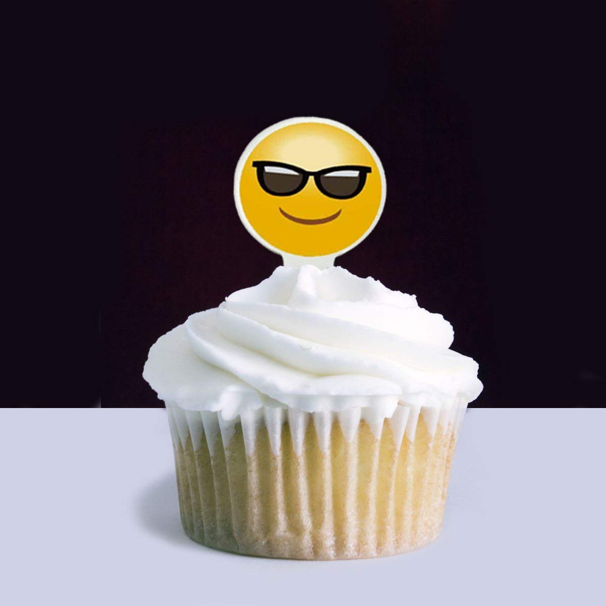Emoji Cupcake Topper 50pcs Cake Picks Snack Decoration DIY Party Favors Kit for Birthday Wedding Baby Shower