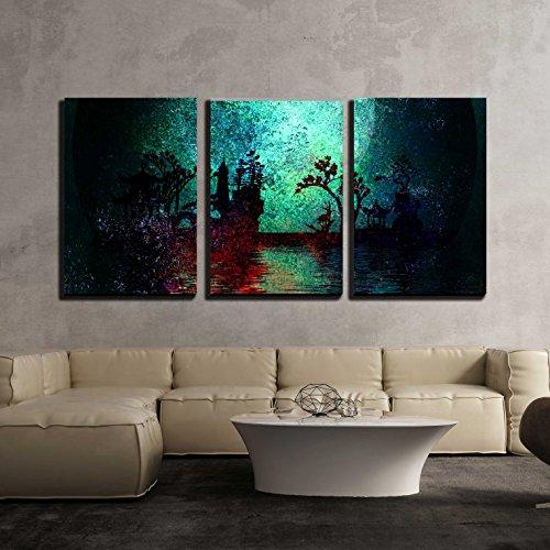 Asia Landscape Textured Painting x3 Panels