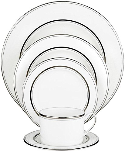 Kate Spade New York Library Lane Platinum Dinnerware 5 Piece Place ()