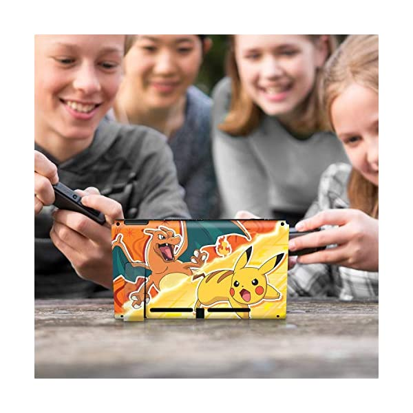 Controller Gear Nintendo Switch Skin & Screen Protector Set - Pokemon - Pikachu Vs Charizard Set 1 - Nintendo Switch 10