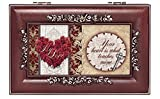 My Love Rose Heart Rosewood Finish Jewelry Music Box - Plays You are My Sunshine