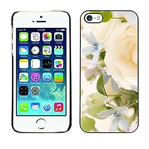 FECELL CITY // Duro Aluminio Pegatina PC Caso decorativo Funda Carcasa de Protección para Apple Iphone 5 / 5S // Yellow Rose Green Spring Bright Bride