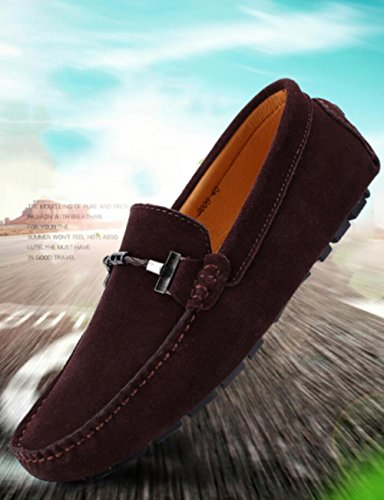 Go Tour Mens Penny Loafers Moccasin Driving Shoes Slip On Flats Boat Shoes Brown-d oqZw2E9TP