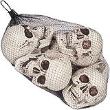 Halloween Table Decorations Halloween Props Bag of Skulls 6pc 5.5