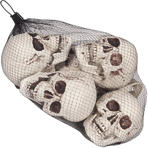 Halloween Table Decorations Halloween Props Bag of Skulls 6pc 5.5