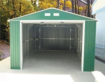 Duramax 12 x 20 metal Utilidad Kit de construcción de cobertizo de almacenamiento - verde: Amazon.es: Jardín