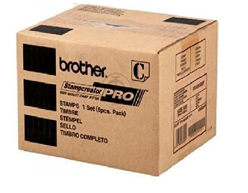 Brother PR1850B6P Black Pre-inked Stamp (6 Pack) For use with SC2000 or SC2000USB Stampcreator Pro Systems; Blank, Self-inking Stamps; Up to 600 dpi Resolution; Dimensions 18mm x - Inking System