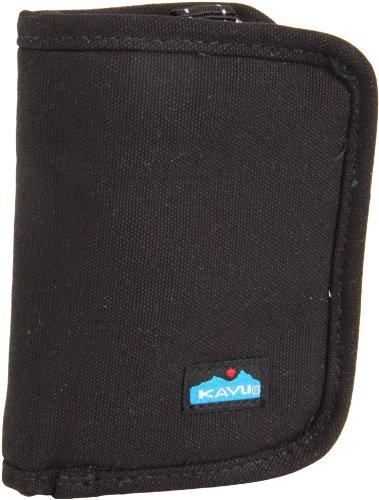 KAVU Zippy Wallet Bi Fold Zip Clutch Removable Coin Pouch - Black
