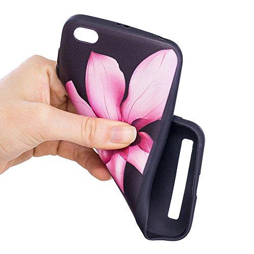 Grandcaser Funda para Xiaomi Redmi 5A,Ultra Fina Slim Flexible Duradera Protectora Funda Estuche de Silicona TPU Gel Original Goma Grip Bumper Design Carcasa - Patrón simétrico Loto
