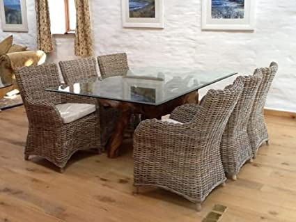 Teca de madera Rectangular grande de la raíz de mesa de ...