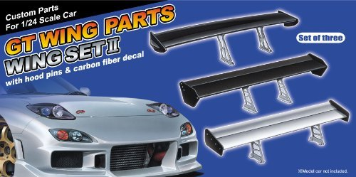 Download Aoshima #119 GT Wing accessory Set #2 (set of 3 Wings) 1/24 Model Parts