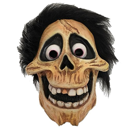Halloween Skull Latex Mask Full Head Movie Coco Hector Costume Fancy Dress Prop