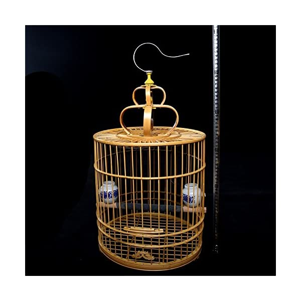 Pet Online Exquisite bamboo cage large bird cage with full accessories