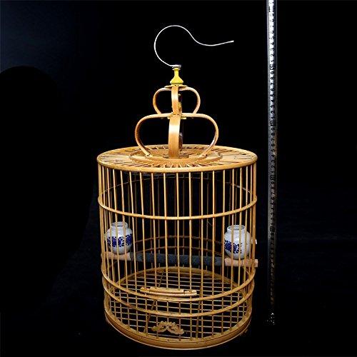 negozio online Pet Online Squisito gabbia di bambù bambù bambù grande gabbia per uccelli con accessori completi  vendite calde
