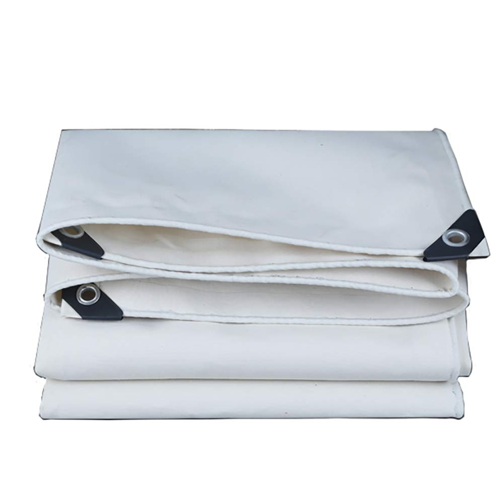 Waterproof Canvas White Heavy Duty Insulation Tarpaulin Tent Splice Awning Sun Shade 500G/㎡ QJ (Size : 2x1.5m)