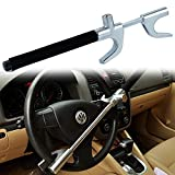 FREESOO Car Steering Wheel Lock Auto Anti-theft Security Lock with Safety Hammer