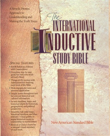 International Inductive Study Bible: New American Standard Bible/Burgundy Leather Cover/Gilt Edged (English and English Edition) (Edged Leather)