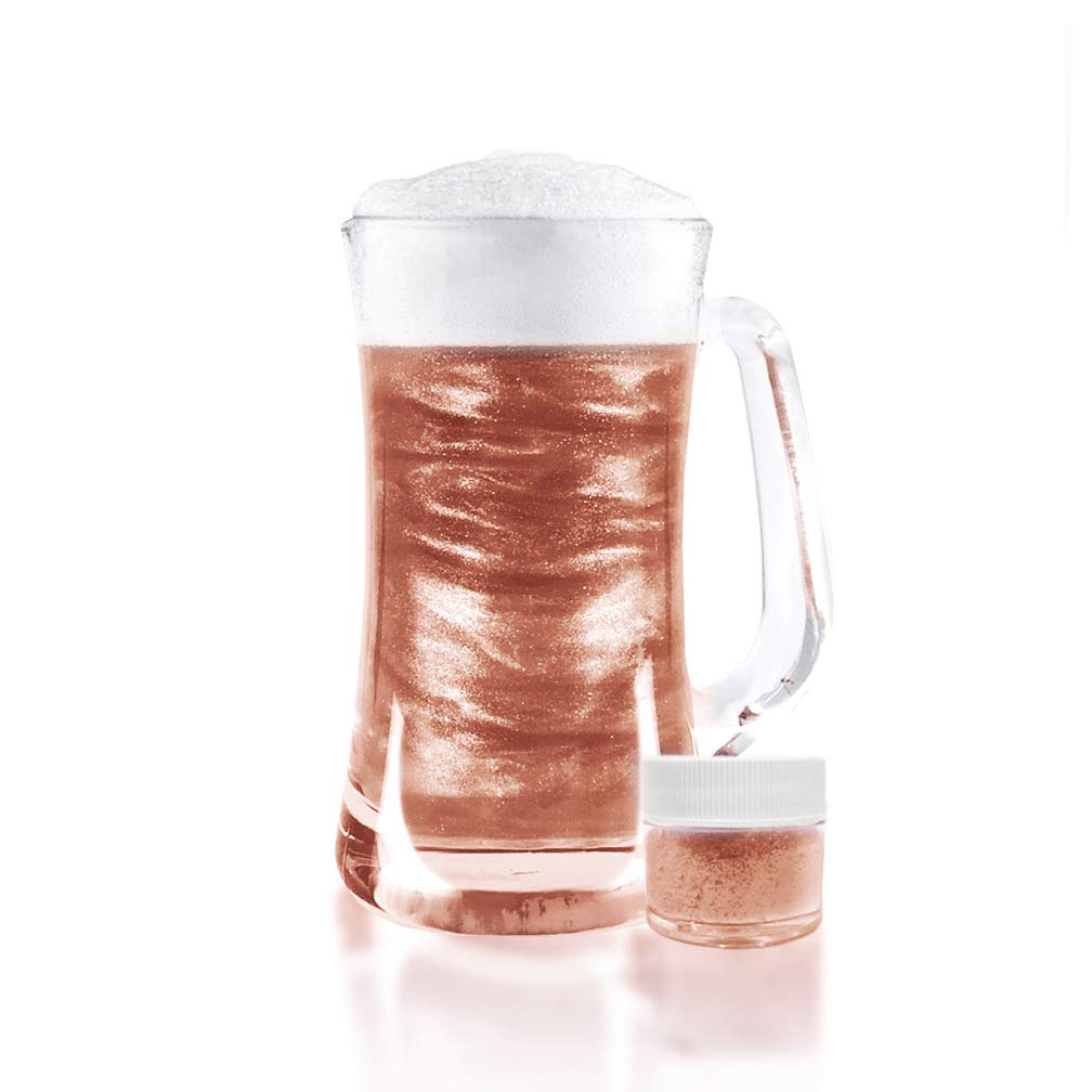 Rose Gold Beer & Beverage Glitter | 50 Gram Jar | Edible Food Grade Beer Glitter, Cocktail Glitter & Beverage Glitter-Dust from Bakell by Bakell (Image #4)