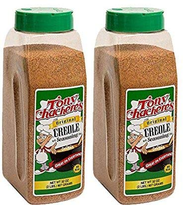 - Tony Chachere's Original Creole Seasoning 32 oz - NO MSG (2 Bottles)