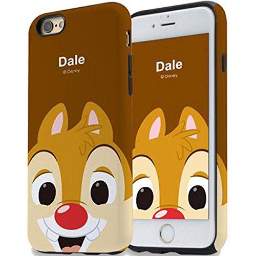 変位足舌ディズニー トゥインクル ダブル バンパー ケース iPhone8 / iPhone7 (iPhone8/iPhone7専用, デール)