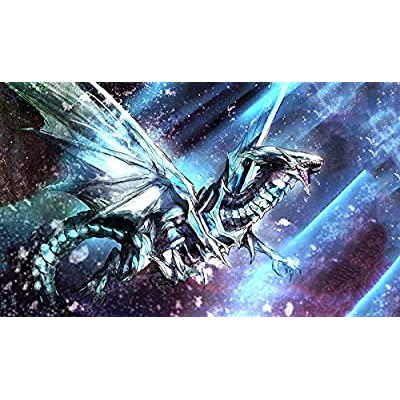 RFG REMOVE FROM GAME Blue Eyes White Dragon in Space Playmat 24 x 14 inch: Toys & Games