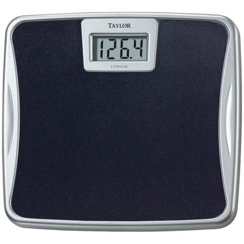 Taylor 73294072 Black & Silver Easy-To-Read Digital Basic Lithium Bath Scale