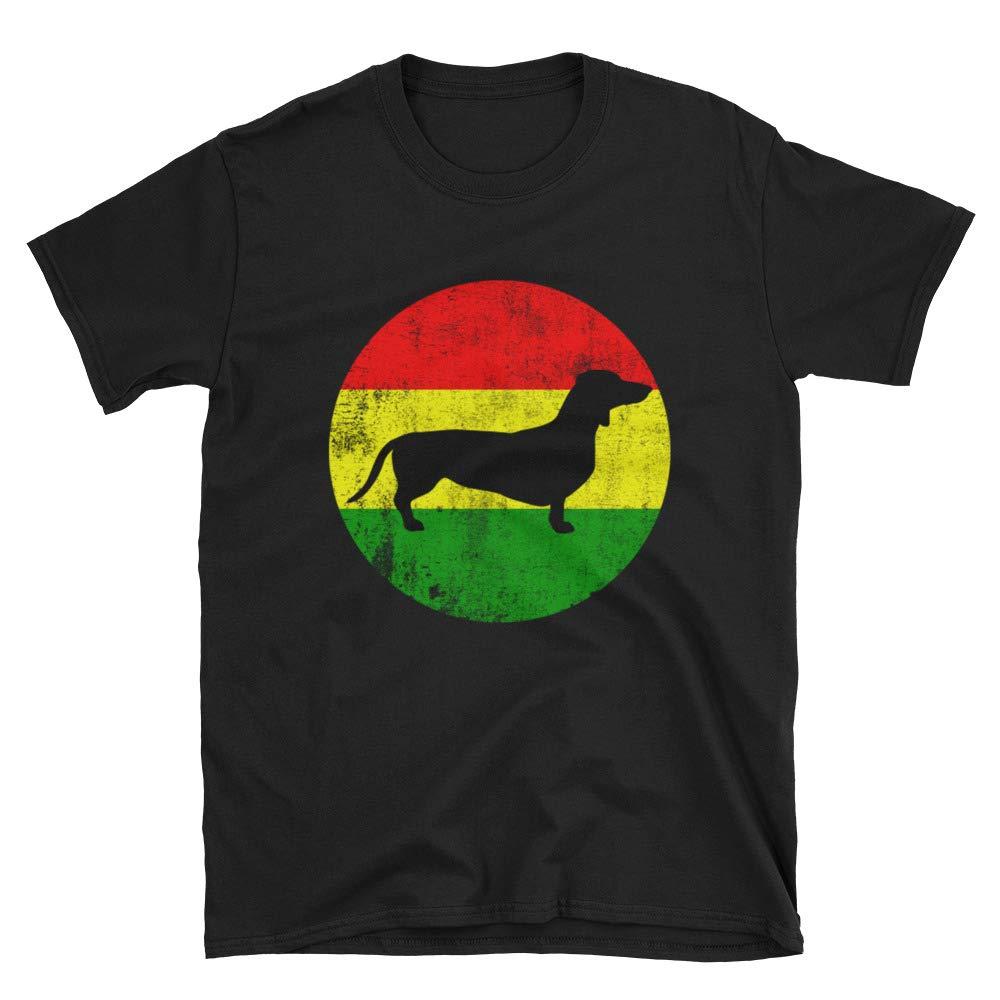 4072bec27e2 Prevnt Products Funny Rasta Dachshund Dog Lover   Owner Gift Shirt ...