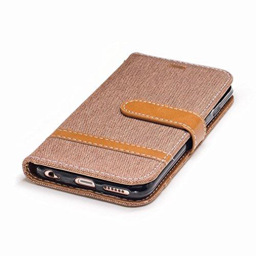Yiizy Apple IPhone 6s Plus / IPhone 6 Plus Cover Custodia, Modello Del Cowboy Design Silicone Custodia Flip Cover Portafoglio PU Pelle Cuoio Copertura Case Slot Schede Cavalletto Stile Libro Bumper Pr
