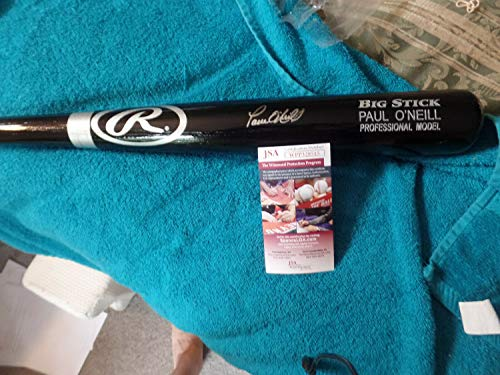 Paul Oneill Hand Signed - New York Yankees Paul Oneill Autographed Signed His Name Bat Memorabilia JSA Certified