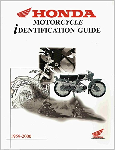 1959-2000 Honda Motorcycle Identification Guide