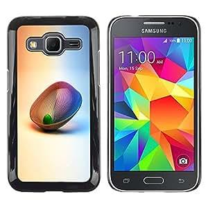 Caucho caso de Shell duro de la cubierta de accesorios de protección BY RAYDREAMMM - Samsung Galaxy Core Prime SM-G360 - Abstract 3D