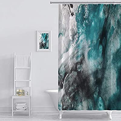 Shower Curtain abstract background watercolor background abstract oil on abstract watercolor art hand Art Print Polyester Fabric Bathroom Decor Sets with Hooks 72 x 72 Inches, Green - 100% Polyester Fabric No Liner Needed Eye-catching pattern adds a distinctive look to your bathroom Bold graphics printed with state of the art digital printing technology - shower-curtains, bathroom-linens, bathroom - 51667rRGvlL. SS400  -