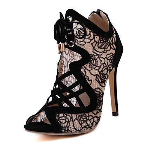 Strap Dance Women Fish apricot Comfortable Heels YC With Shoes L High Crocodile Neck TwvqX0p