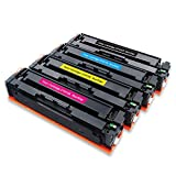 Run Star Replacement 410X CF410X CF411X CF412X CF413X Compatible Toner Cartridge Use with Color LaserJet Pro MFP M477fdw M477fnw M477fdn M452dn M452nw M452dw M377dw M377 Printer, 4 Packs