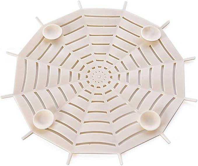 Beige UPKOCH 2 pcs Drain Cover Sink Strainer Spider Web Shaped Garbage Mesh Filter for Bathrooms Toilet Kitchen