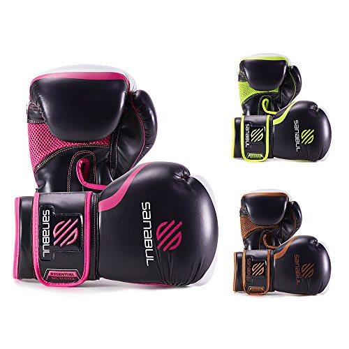 Sanabul Essential Gel Boxing Gloves Essential Boxing Gloves Pink 10-oz