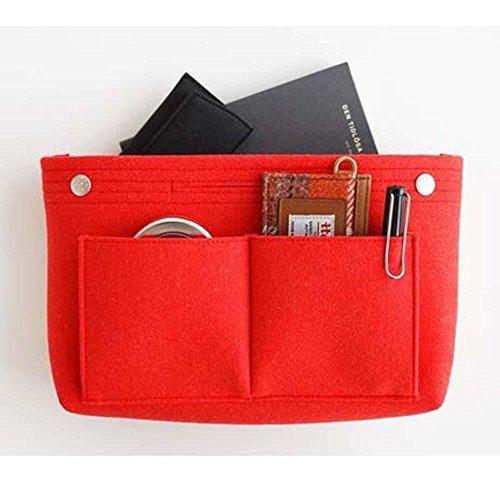À Rangement Cosmétique Sac Insert Maquillage Feutre Femme Nourriture Aolvo Main Organiseur De Pocketbook Red Organiseur Pour Filles zq5qRUw