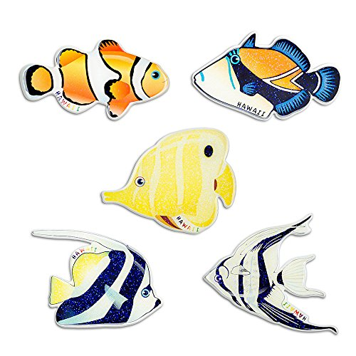Fish Refrigerator Magnets Fridge Magnets Funny Magnets for Refrigerator Office Cabinets Whiteboards,Decorative Tropical Magnets (Pack of 5 Colorful Fish)
