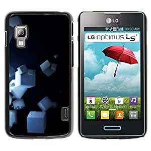 LECELL -- Funda protectora / Cubierta / Piel For LG Optimus L5 II Dual E455 E460 -- Cubes --