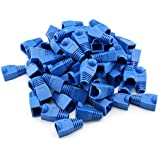 Maxmoral 100-Pack CAT5E CAT6 RJ45 Ethernet Network Cable Strain Relief Boots - Blue