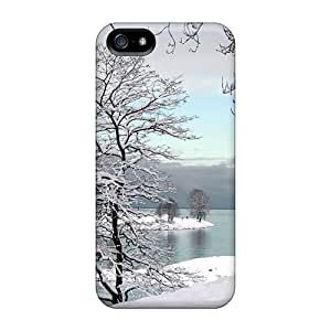 Durable Case For The Iphone 5/5s- Eco-friendly Retail Packaging(a Snowy Winter Scene)