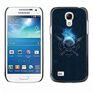 Beautiful-Diy AMAZING-BASE Smartphone Funny Back Image Picture case cover protective Black Edge for Samsung Galaxy orZAqfZO1qU S4 Mini i9190 i9195 MINI VERSION! - Flaming Skull
