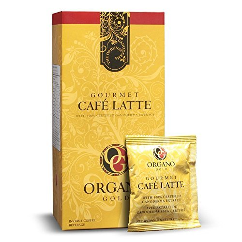 4 Boxes Organo Gold Gourmet Cafe Latte Coffee with Ganoderma Lucidum Extract + Free Shipping ()