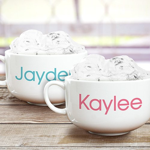GiftsForYouNow Any Name Personalized Ice Cream Bowl, 32 oz