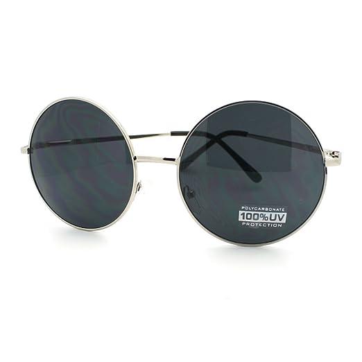 Circle Silver Super Metal Black Gold Round Sunglasses Frame Thin Oversize QroeEdWxBC