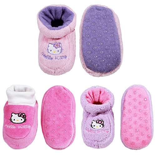 Infants/Toddler Soft Warm Cozy Fuzzy Slippers Non-Slip Lined Socks/Shoes - A18