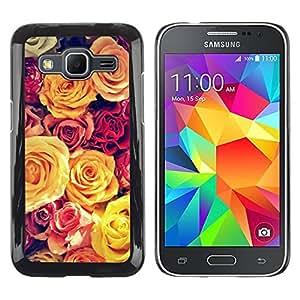 Paccase / SLIM PC / Aliminium Casa Carcasa Funda Case Cover para - Vignette Yellow Bouquet Spring Love - Samsung Galaxy Core Prime SM-G360